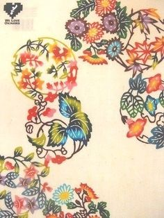 沖縄の伝統工芸・紅型(びんがた)は、四季折々の柄もうるさくない♪ Japanese Textiles, Japanese Patterns, Japanese Design, Japanese Kimono, Japanese Art, Okinawa Tattoo, Fabric Print Design, Kimono Pattern, Fox Tattoo