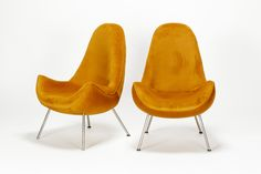 Pair of Fritz Neth Lounge Chairs Correcta 50's