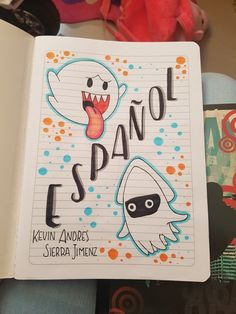 Cuaderno español Bullet Journal Cover Ideas, December Bullet Journal, Bullet Journal Banner, Bullet Journal School, Journal Covers, Save Earth Drawing, Astronaut Drawing, Notebook Art, School Notebooks