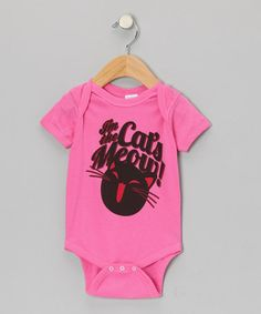 Take a look at this Raspberry 'I'm the Cat's Meow!' Bodysuit - Infant by American Classics on #zulily today!