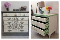Custom Designed 3 drawer painted dressers with by FurnitureAlchemy