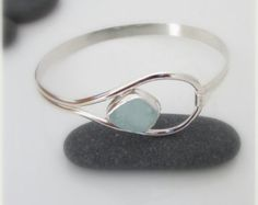 RESERVED: Sea glass bracelet. Sea glass jewelry. Sterling