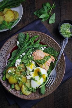 ... Potato Salad with Pesto Dressing and Soft-Boiled Egg | {Katie at the