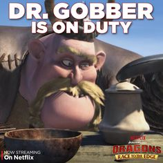 """Gobber is no Gothi. Find out what kind of mess he makes while Gothi is off with the riders in """"Dragon Eye of the Beholder, Part 2"""" on Netflix."""