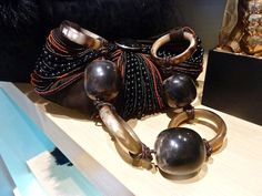 Anna Trzebinski horn and beaded bag |Pinned from PinTo for iPad|