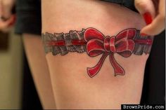 10 Garter Tattoos You Generally Would Never See Unless You Are The Lucky Chosen Person Girls who won't be throwing these garters at their weddings ... | From kyngofdafuq