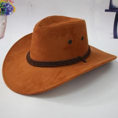 8dbcfe5603df9 fashion fuax leather western cowboy hats,retail,wholesale womens mens  tourist caps for travel