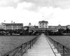 Looking Down The Pier At Ormond Hotel 1930s Beach Old Florida