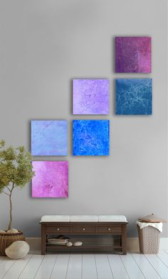 Abstract PaintingCUSTOM 6 square abstract por TwistOfUnique
