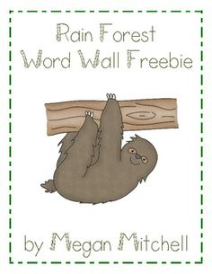 Enjoy this Word Wall, Word Search and Alphabetizing Activity during your Rain Forest Unit....