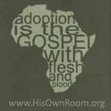Love this! The King family is adopting a son from the Congo. Buying this t-shirt helps them bring him home.