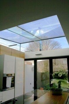 Glazed roof kitchen