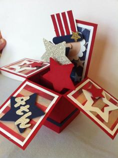 Uncle Sam Card in a Box by Rose Reynolds - Cards and Paper Crafts at Splitcoaststampers