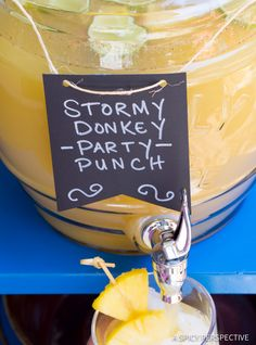 Best Stormy Donkey Party Punch - Large Batch Cocktail for Summer & Fall Parties! | ASpicyPerspective.com