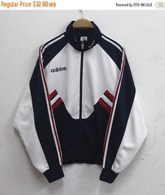New Year Sale Adidas Jacke Vintage Adidas von HeroZoneClothing, Style Outfits, Swag Outfits, Mode Outfits, Fashion Outfits, Fashion Trends, Adidas Vintage, Cardigan, Sweater Hoodie, Mode Adidas