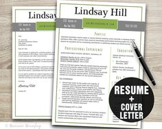 Etsy listing at https://www.etsy.com/listing/203954258/resume-download-resume-template-resume