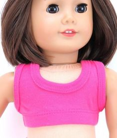 18 Inch Doll Hot Pink Cropped Tank Top