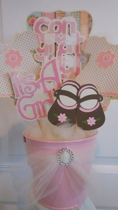 Baby Shower Centerpiece - shabby chic