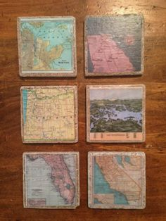 DIY map coasters - you could pick special family memories and map out where you were. Ex.-where you were married-child's birth-family vacation