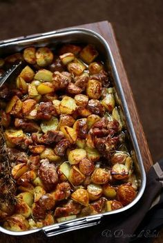Agneau et pommes de terre au four comme en Italie