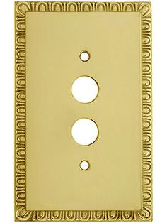 egg u0026 dart design push button switch plate in solid brass house of antique hardware