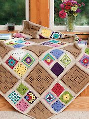 Afghan of Many Colors crochet pattern download from Annie's Craft Store. Order here: https://www.anniescatalog.com/detail.html?prod_id=129297&cat_id=902