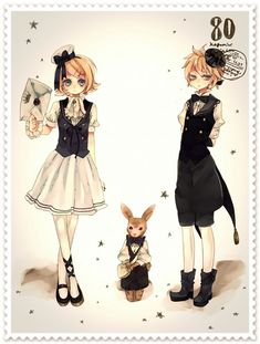 Vocaloids Rin and Len Kagamine