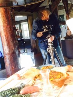 Shooting Annemarie's kale-sweet potatoe pie