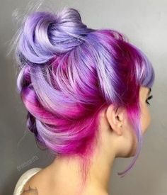 { This purple ombre hair color is amazing - ✧ Hair ✧ - Hair Color Ombre Hair Color, Cool Hair Color, Purple Ombre, Purple Balayage, Pastel Purple, Purple Highlights, Pink Purple Hair, Magenta Hair Colors, Rainbow Highlights