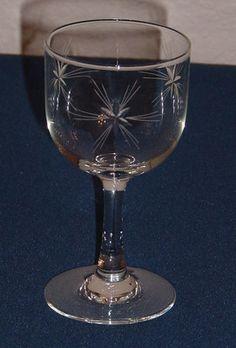 Vintage Stem Sparkling Wine Mini Bowl Glasses X2 Chaser//sherry//shot//retro//x2