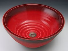U-Style Handcrafted Porcelain Clay Undermount Sink - Red
