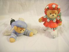 Enesco Lucy and Me Little Boy and Girl Ice Skating Bear Figurines