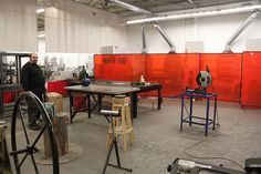 Artisan's Asylum on Tyler Street. This is the welding area. Artisan's Asylum, Inc. is a non-profit community craft studio located at 8-10 Tyler Street, in Somerville, MA. ArtisansAsylum.com.