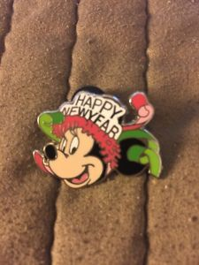 2009 Disney Minnie Mouse Pin #67061 DLR WDW Happy New Year LE 500