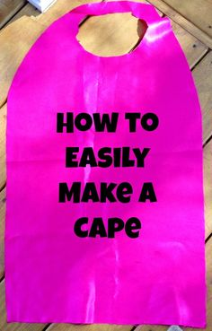 How to Make a DIY Cape Easily. An easy gift to make for a kid! Diy Superhero Costume, Girl Superhero Party, Hallowen Costume, Superhero Capes, Costume Ideas, Superhero Preschool, Superhero Costumes For Girls, Superhero Dress, Batgirl Costume