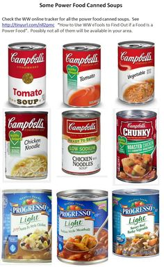 Some Food Canned Soups Text Not Selectable To Copy Recipe Click