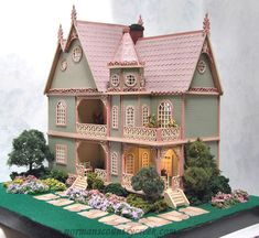 Handcrafted Quarter Scale The Sage or Jasmine Victorian Mansion Dollhouse - Norman's Country Creek