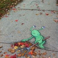 STREET ART UTOPIA » We declare the world as our canvasChalk Art by David Zinn - A Collection » STREET ART UTOPIA