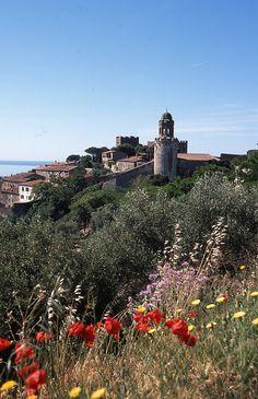 Village on coast of Tuscany - Galgano, Livorno, Italy