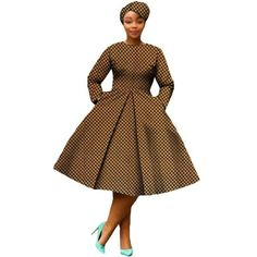 African Dress Women Full Sleeve Calf-Length Ball Grown Casual Dress with African Dress Women Full Sleeve Calf-Length Ball Grown Casual Dress wi – Afrinspiration African Dress Patterns, African Dresses For Kids, Latest African Fashion Dresses, African Inspired Fashion, African Print Dresses, African Print Fashion, Ankara Fashion, African Prints, African Attire