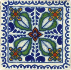 Decorative Mexican Tiles Traditional Mexican Tile  Anturio  Traditional Decorative Tile