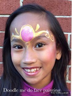 Princess crown by doodle me do face painting
