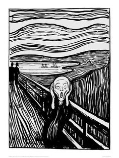 Köp The Scream Illustration By Munch Poster online Le Cri Munch, Expressionist Artists, Edvard Munch, Fine Art Prints, Canvas Prints, Framed Prints, Art Institute Of Chicago, New Wall, Scream