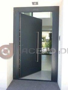 puerta peatonal abatible de hierro moderna copia