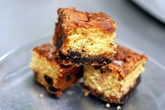 """Mom's Chocolate Chip Sour Cream Coffee Cake (recipe) - """"It's absolutely perfect in every possible way — soft, plushy bites of uber-moist goodness broken up by cinnamon-sugar crusted chocolate chips."""""""