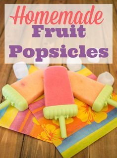 One of my favorite healthy kids recipes for easy homemade fruit popsicles. Fun ice pops can be low sugar by using greek yogurt, fresh fruit and honey. These are great summer treats that are also a healthy snack!