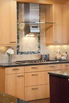 #kitchen #range #hood #tile #backsplash #tilesurround #housetrends #contemporary