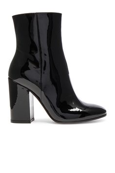 0059a264b6d8 Gianvito Rossi Patent Leather Rolling High Booties as seen on Emily  Ratajkowski