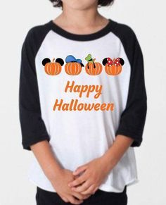 Still worrying over kids Halloween Clothing 2016 for group Disney Halloween, Halloween Outfits, Halloween Kids, Halloween 2016, Halloween Sweatshirt, Raglan Shirts, Disney Style, Direct To Garment Printer, Graphic Sweatshirt