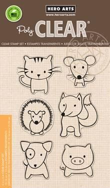 Hero Arts Clear Stamp Set - Playful Animals